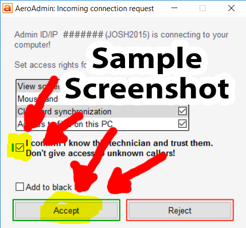 Check the box to approve our connection and click Accept.